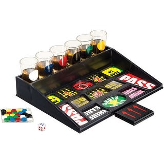Palais Glassware Salle damusement Room of Fun Shot Glass Collection Drinking Chips Set, 1 Oz Shot Glasses