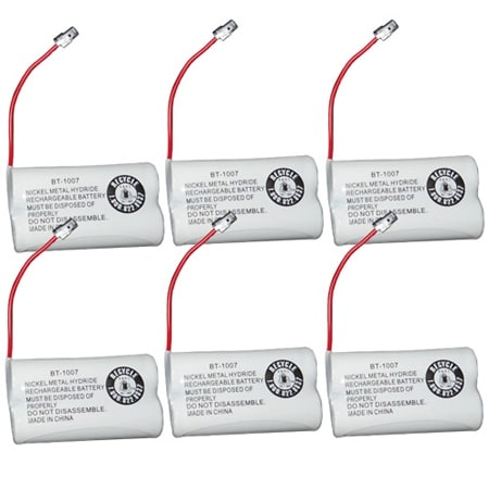 Replacement BT1007 (TL26602) Battery For Uniden DECT1600 / DECT1680-6 Phone Models (6 Pack)