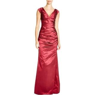 Aidan Mattox Womens Evening Dress Taffeta Off-The-Shoulder - 4