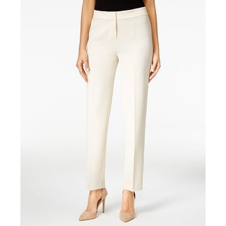 Kasper NEW White Ivory Straight Leg Women's Size 16 Dress Pants