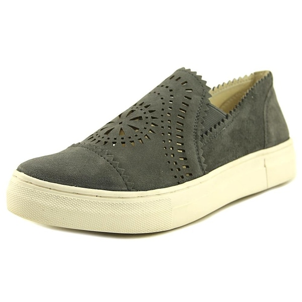Seychelles Bottom Line Women Pointed Toe Suede Gray Loafer