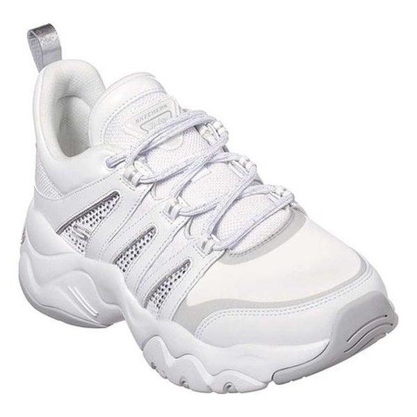 990d22e20e52 Shop Skechers Women s D Lites 3.0 Intense Force Sneaker White Silver ...