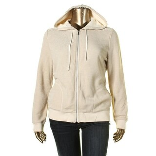 Tommy Hilfiger Womens Zip-Front Hoodie Shimmer Fre ch Terry
