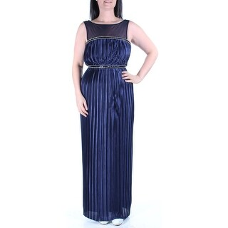 $119 LONDON TIMES New Womens 1322 Navy Formal Empire Waist Dress 4 B+B