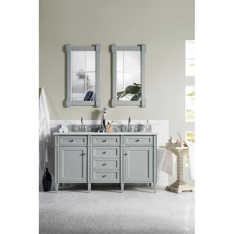 """Brittany 60"""" Double Cabinet, Urban Gray"""