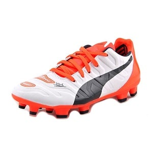 Puma evoPwer 1.2 FG Jr Youth Round Toe Synthetic White Cleats