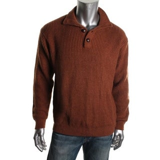Weatherproof Mens Ribbed Knit Long Sleeves Pullover Sweater - XL