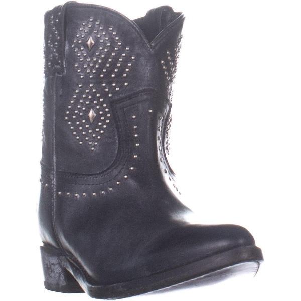 8cd4058455f Shop FRYE Billy Stud Short Distressed Western Boots, Black Leather ...
