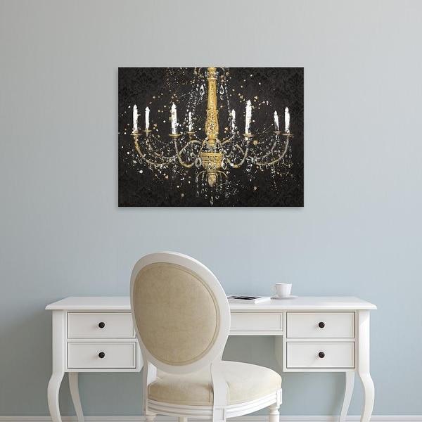 Easy Art Prints James Wiens's 'Grand Chandelier Black I v2' Premium Canvas Art