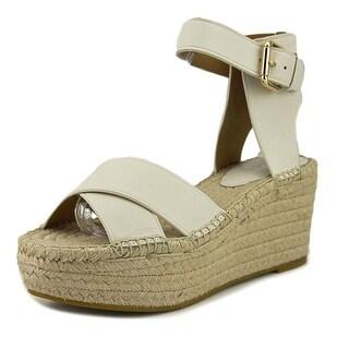 Coach Primrose Soft   Open Toe Leather  Wedge Sandal