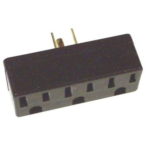 Leviton Brown Triple Tap Plug-In Outlet Adapter 005-00697-000