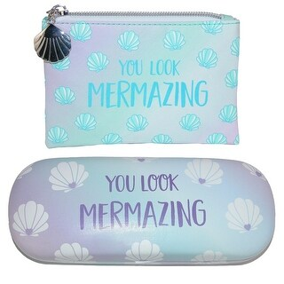 Sass & Belle Mermaid Treasures Coin Purse and Glasses Case Set - One size