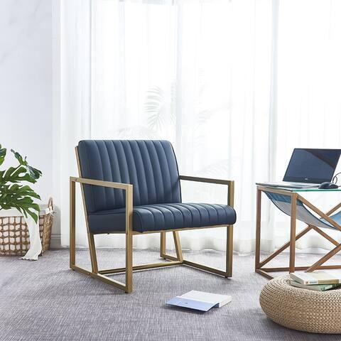 """Modern design high quality PU(BLACK)+ steel armchairfor Kitchen etc - 8'6"""" x 11'6"""""""