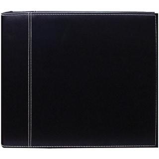 "Pioneer 3-Ring Sewn Cover Album 12""X12""-Black/Black"