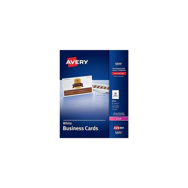 shop avery 5911 printable microperf business cards w 10 cards per