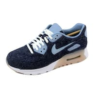 Nike Women's Air Max 90 Ultra Premium Midnight Navy/Blue Grey-White 859522-400 Size 6