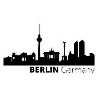 Berlin, Germany - Vinyl Skylines - 48x24 Peel'N'Stick Wall Art
