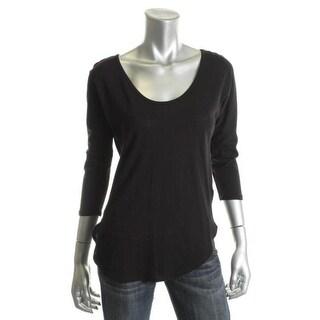 C&C California Womens Cotton Scoop-Neck Pullover Top - S