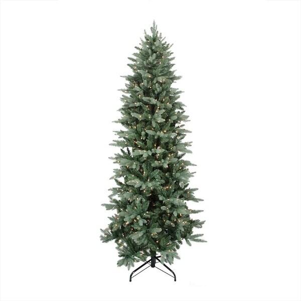 "9' x 49"" Pre-Lit Washington Frasier Fir Slim Artificial Christmas Tree - Clear Lights - green"