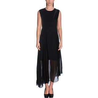 DKNY Womens Casual Dress Silk Blend Asymmetrical Hem