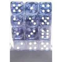 Manufacturing 27808 12 mm Nebula Black With White Numbering D6 Dice