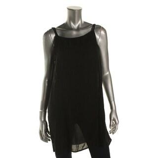 Aqua Womens Camisole Top Solid Crinkled - l