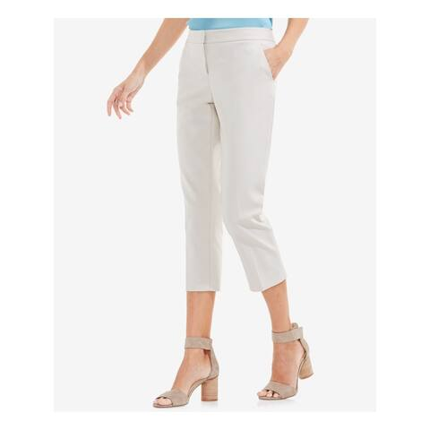 VINCE CAMUTO Womens Ivory Flat Front Wear To Work Pants Size 4