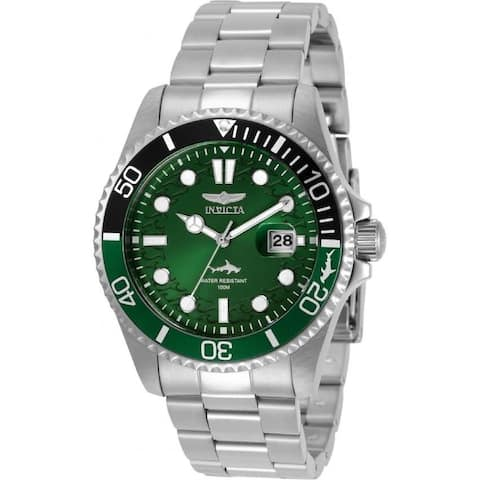 Invicta Men's 30808 'Pro Diver' Stainless Steel Watch - Green