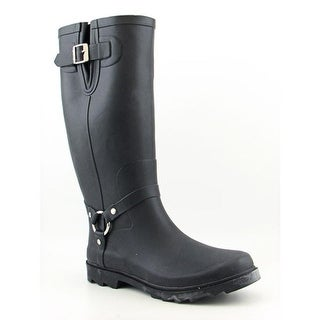 Dirty Laundry Roadhouse Women Round Toe Synthetic Black Rain Boot