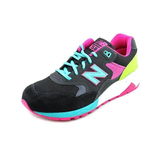 New Balance MRT580 Men Round Toe Suede Black Running Shoe