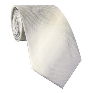 Kenneth Cole Reaction Marie Antoinette Unsolid Classic Silk Tie Silver - One Size Fits most