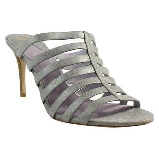 Johnston & Murphy Womens Sally SilverMetallic Heels Size 8