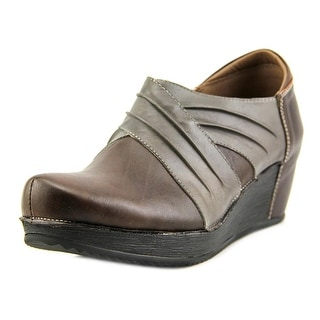 Spring Step Funtastic Women Round Toe Leather Brown Bootie