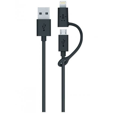 Belkin BKNJ080BT03BK Micro-USB Cable With Lightning connector Adapter, Black