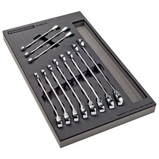 Powerbuilt Pro Tech 11 Piece SAE Reversible Ratcheting Wrench Set