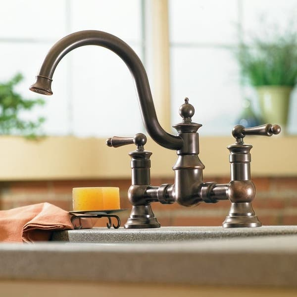 Moen S713 Waterhill High Arc Kitchen Faucet With Side Spray Overstock 17265682