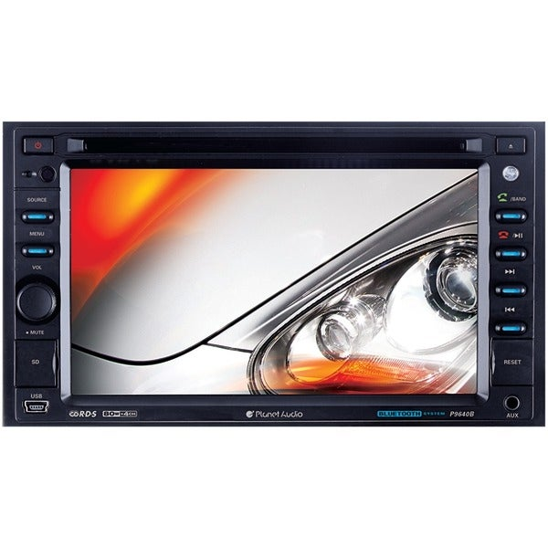 """Planet Audio P9640Brc 6.2"""" Double-Din In-Dash Touchscreen Dvd Receiver With Bluetooth(R) (With Rear Camera)"""