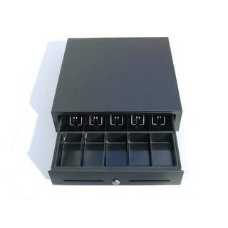 2xhome - Heavy Duty 12v POS Black Cash Drawer RJ-11 Phone-Jack - Printer Compatible