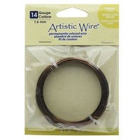 Artistic Wire, Copper Craft Wire 14 Gauge Thick, 10 Foot Spool, Antiqued Brass