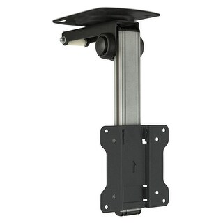 Mount-It! TV Ceiling Mount Kitchen Under Cabinet TV Bracket Folding, Swivel for 13 to 27 inch TVs