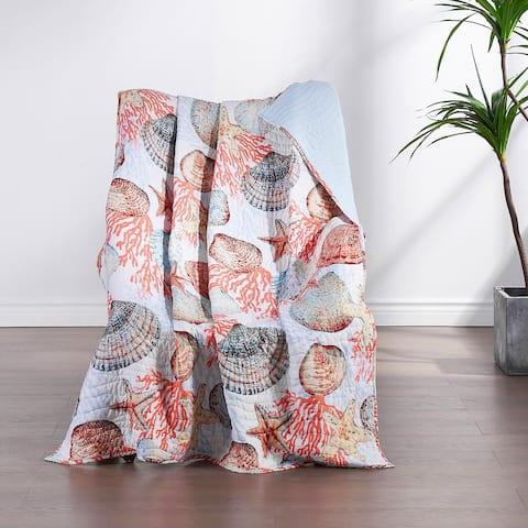 Greenland Home Fashions Beach Days Cotton-Rich Throw Blanket