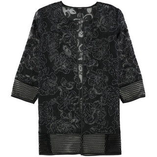Link to Alfani Womens Floral Jacket Similar Items in Women's Outerwear