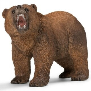 Schleich 14685 Grizzly Bear Toy Figure