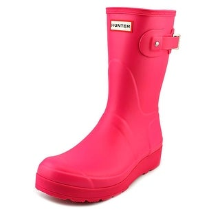 Hunter Original Short Wedge Sole Women  Round Toe Synthetic  Rain Boot