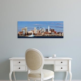 Easy Art Prints Panoramic Images's 'Buildings, Delaware River, Philadelphia, Philadelphia Pennsylvania' Canvas Art