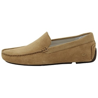 Lacoste Men's Piloter 316 2 Fashion Light Tan Suede Loafers Shoes Sz: 11