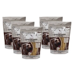 Tartar Shield Soft Rawhide Chews for Large Dogs 24 Count 5 Pack