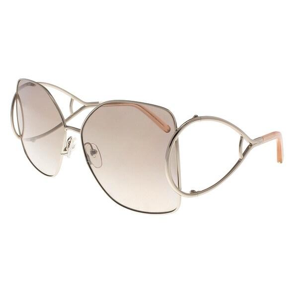 f92624d18f0 Shop Chloe CE135 S 724 Gold Peach Butterfly Sunglasses - 63-15-135 ...