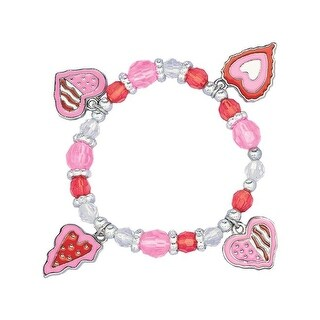 Amscan 395313 Heart Valentines Day Charm Bracelet - Pack of 16