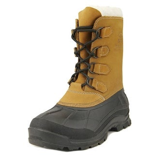 Kamik Alborg   Round Toe Leather  Snow Boot